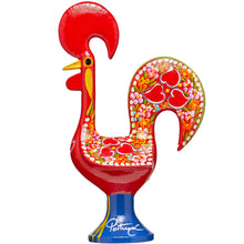 Load image into Gallery viewer, Galo de Barcelos Rooster _ 35cm Metal _ Red