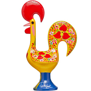Galo de Barcelos Rooster _ 35cm Metal _ Yellow
