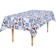 Load image into Gallery viewer, Rooster and Azul Tiles  _ Table Cloth
