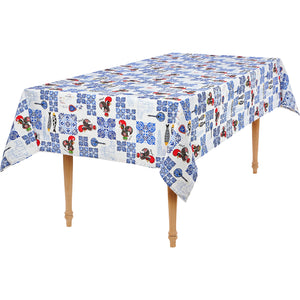 Rooster and Azul Tiles  _ Table Cloth