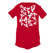 Load image into Gallery viewer, Roosters Everywhere _ Baby Bodysuit Red