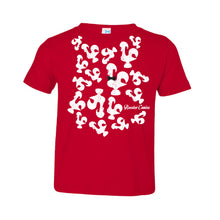 Load image into Gallery viewer, Roosters Everywhere _ Toddler Tee Red