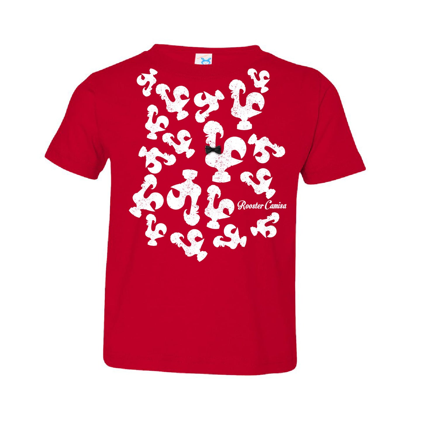 Roosters Everywhere _ Toddler Tee Red