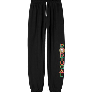 Old School Portugal _ Sweat Pant Black