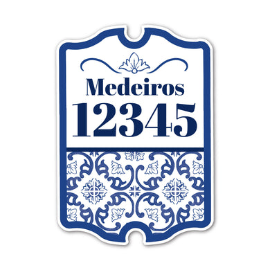 Home Sign Antique  _ Scrolling Azulejos