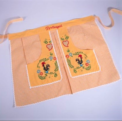 Traditional Colorful Rooster _ Waist Apron - Yellow
