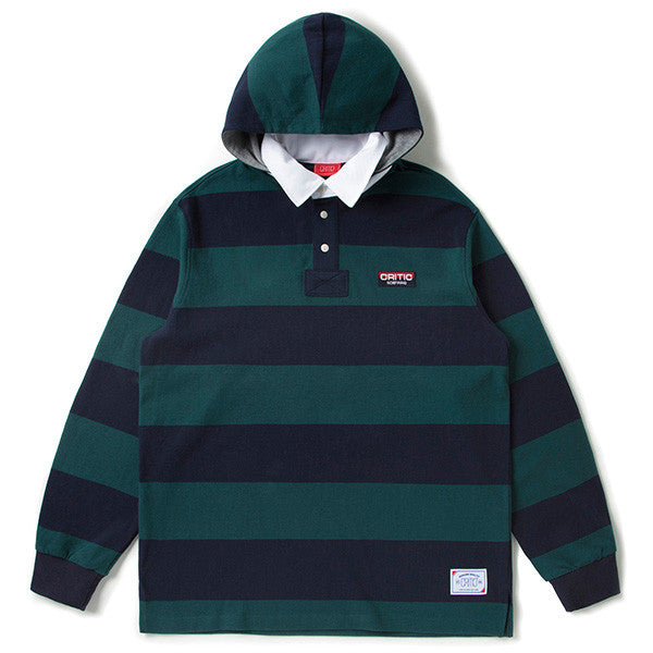 CRITIC 1980 HOODED RUGBY SHIRT (GREEN) CTOSAPL02UG2