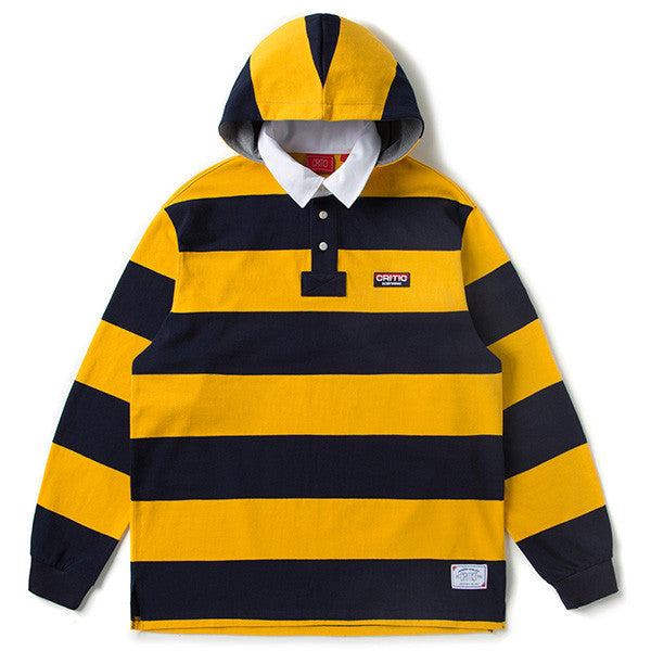 CRITIC 1980 HOODED RUGBY SHIRT (YELLOW) CTOSAPL02UY3