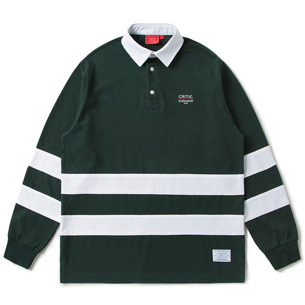 CRITIC CUT AND SEWN RUGBY SHIRT (GREEN) CTOSAPL01UG0