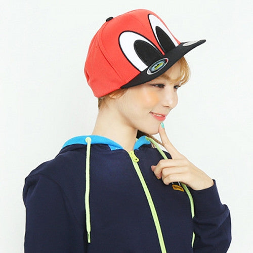 PANCOAT BIGEYES COLORCOMBINATION SNAPBACK CAP (HA) (SCARLET O RED)