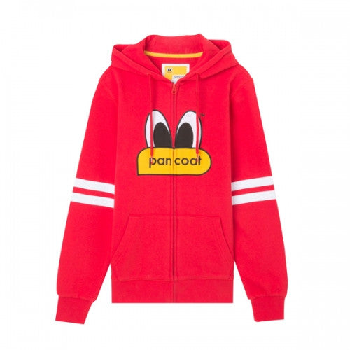 PANCOAT POPEYES NEW BASIC ZIPUP HOODIE (A-1/IP) (CHICAGO RED)