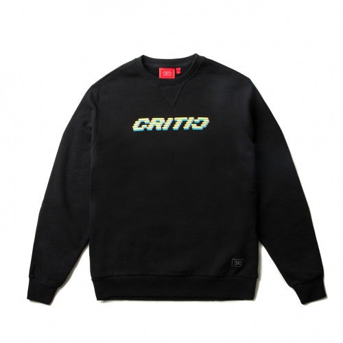 CRITIC LED LOGO CREWNECK (BLACK)_CTOIICR04UBK