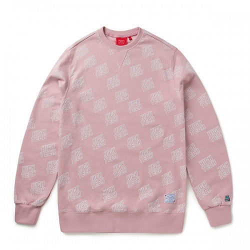 FULL PATTERN SWEAT SHIRT (PINK) CTOSPCR05UP0