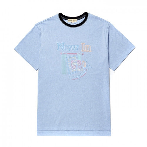Beyond Closet NEW STORE DOG 1/2 TS [NEON SIGN LINE] SKY BLUE