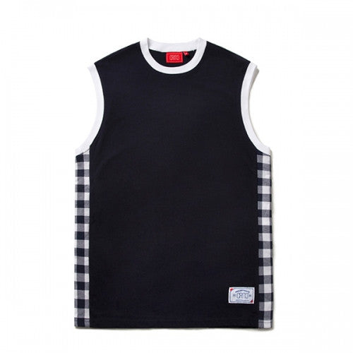 CHECK SLEEVELESS (NAVY) CTOSUSV05MN0