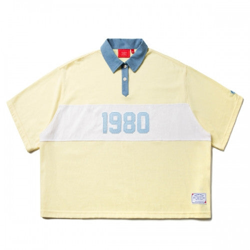 ROTTA x CRITIC 1980 CROP RUGBY SHIRTS (YELLOW) CSOSUPS01WY4