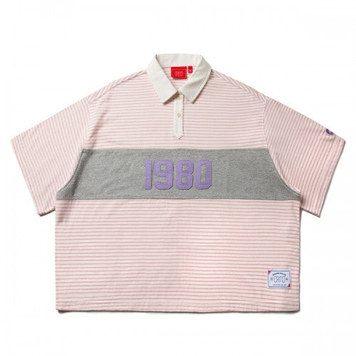 ROTTA x CRITIC 1980 CROP RUGBY SHIRTS (PINK) CSOSUPS01WP0