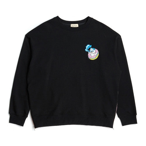 Beyond Closet  SMOKE DOG SWEAT SHIRT BLACK