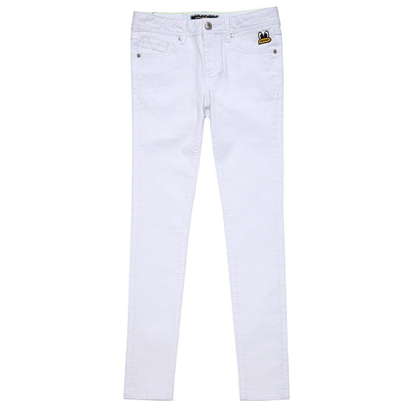 PPOHPCP01UC2 POPEYES SKINNYFIT COLOR WOVEN PANTS (WHITE)