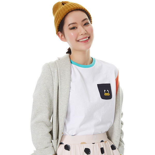 PPOFPRL01UC2 POPEYES COLORATION LONGSLEEVE (T-1/FP) (WHITE)