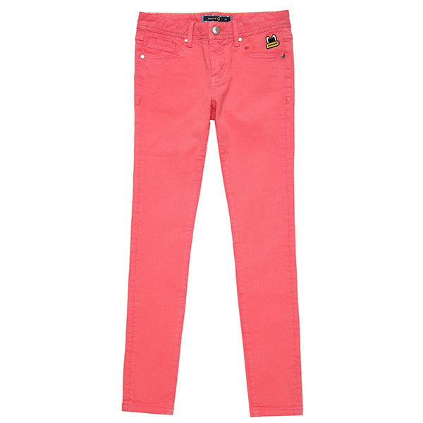 PPOHPCP01UP7 POPEYES SKINNYFIT COLOR WOVEN PANTS (HOTCORAL PINK)