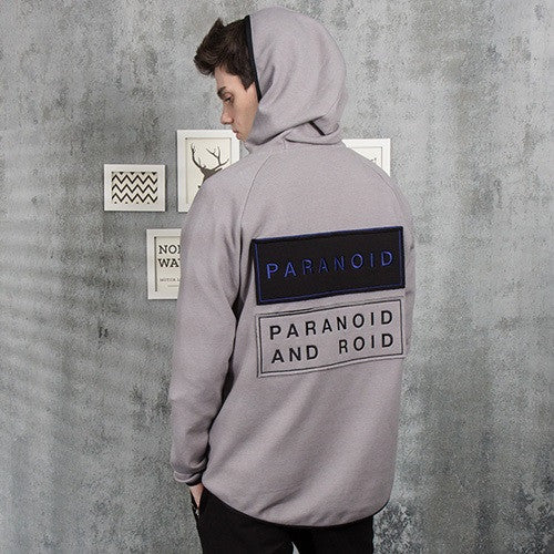 PLAYMONSTER P.A HALF ZIP UP HOODIE PM151029-01_GREY