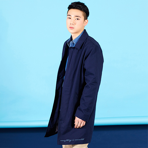 PLAYMONSTER PM-COTTON SINGLE COAT 160202-01_NAVY