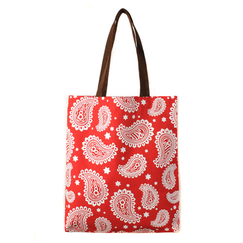 CTOFUBG43URD  BIG PAISLEY CE2 TOTE BAG (RED)