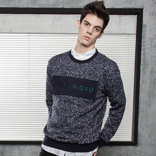 PLAYMONSTER PARANOID KNIT CREWNECK PM151029-06 NAVY