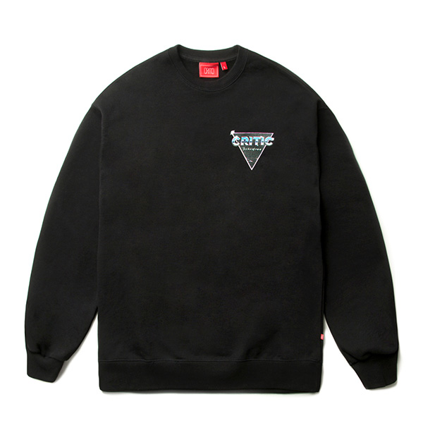 CTOSPCR06UC6  80`S FX LOGO SWEAT SHIRT (BLACK)