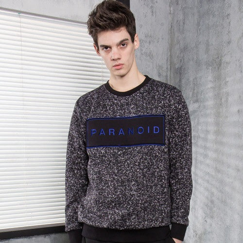 PLAYMONSTER PARANOID KNIT CREWNECK PM151029-05 BLACK