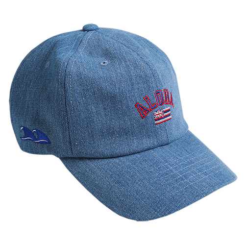 PLAY MONSTER PM-ALOHA CURVE CAP160202-24_DENIM