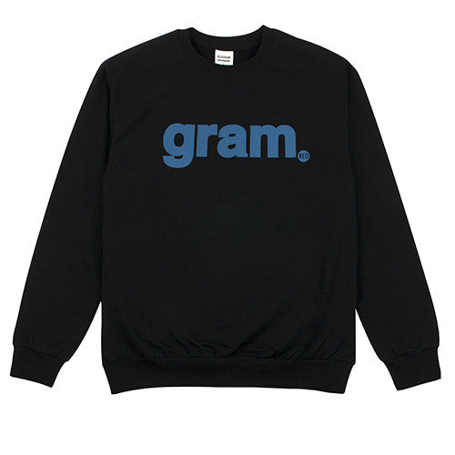 REOGRAM GRAM LOGO SWEATSHIRTS (BLACK)