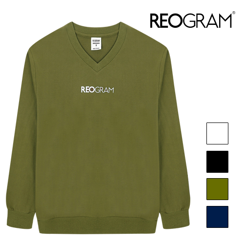 REOGRAM - OG V-NECK SWEATSHIRTS (Khaki)