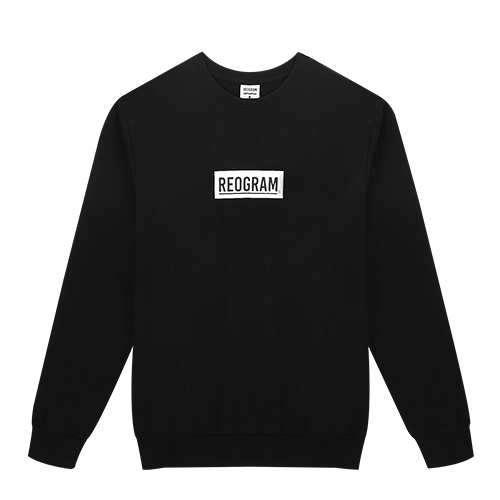 REOGRAM - BOX LOGO SWEATSHIRTS (Black)