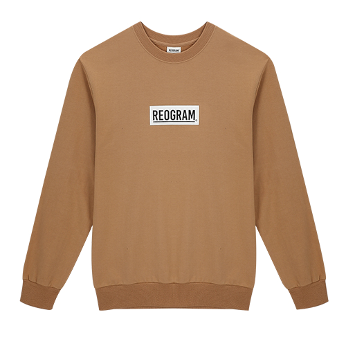 REOGRAM - BOX LOGO SWEATSHIRTS (Beige)