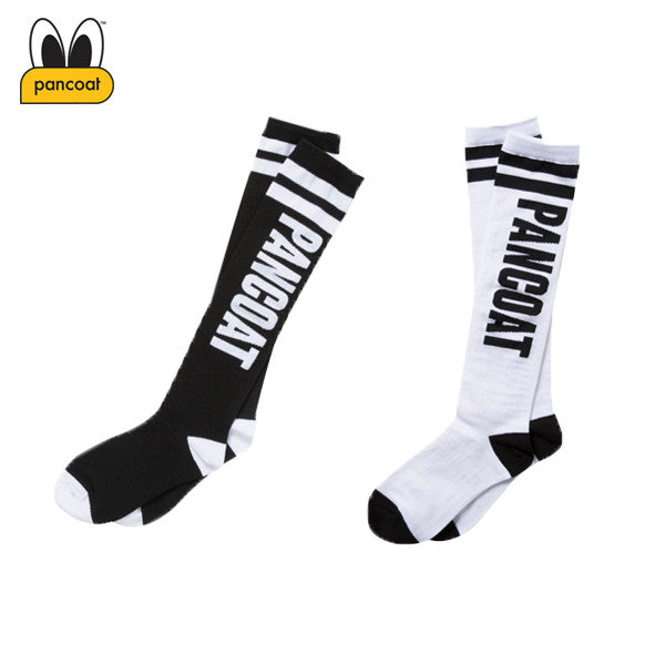 PANCOAT LETTERRING HIGH SOCKS PPOIUSC02W (2 COLORS)