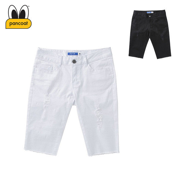 PANCOAT DAMAGE WOVEN SHORT PANTS W PPOIUCS01W (2 COLORS)