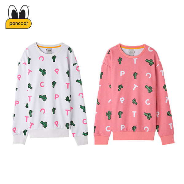 PANCOAT CACTUS PATTERN CREWNECK PPOSACR18U (2 COLORS)