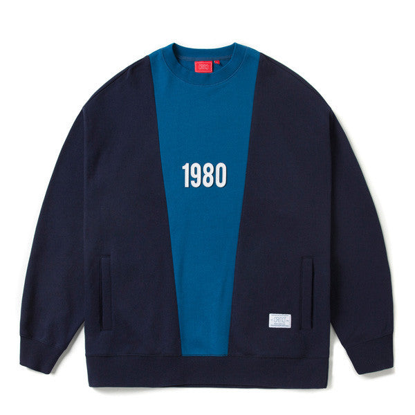 CRITIC 1980 SIDE POCKET WIDE FIT SWEATSHIRT (NAVY) CTOSICR08UN0