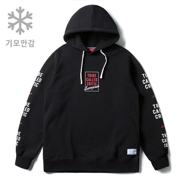 CRITIC TRIBE CALLED CRITIC OVERFIT HOODIE WINTER (BLACK)_CTOSIHD82MC6
