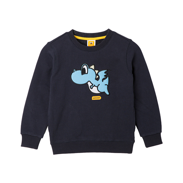 PKOIPCR03UN9  POPDRAGON KIDS CREWNECK (A-1/IP) (ULTRA NAVY)