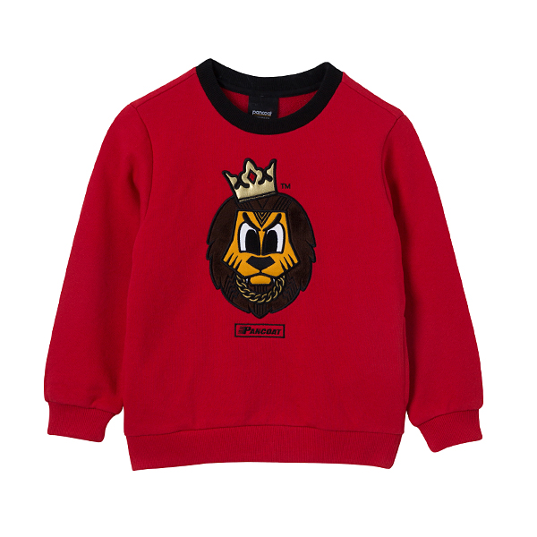 POPLOAD KIDS SWAG CREWNECK (A-1/IA) (KETCHUP RED)