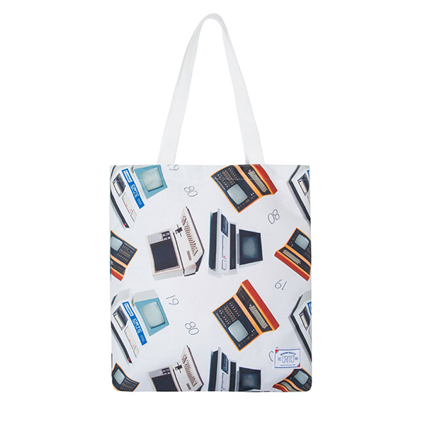 CTOSPBG05UC2 VINTAGE COMPUTER TOTE BAG (OFF WHITE)
