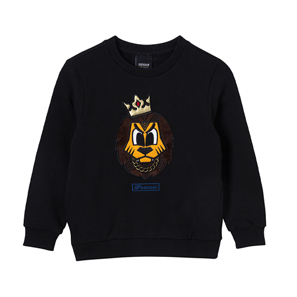 PKOIACR21U POPLOAD KIDS SWAG CREWNECK (A-1/IA) (MIDNIGHT BLACK)
