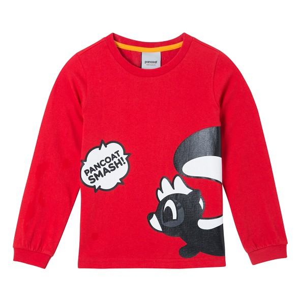 PKOIARL42UR1 BIG POPKUNK KIDS LONGSLEEVE (T-1/IA) (TROPICAL RED)