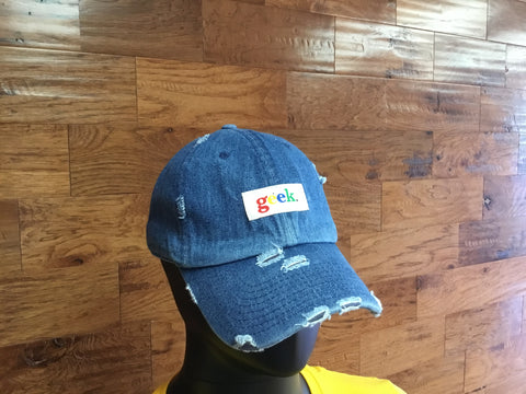 Light blue distressed hat