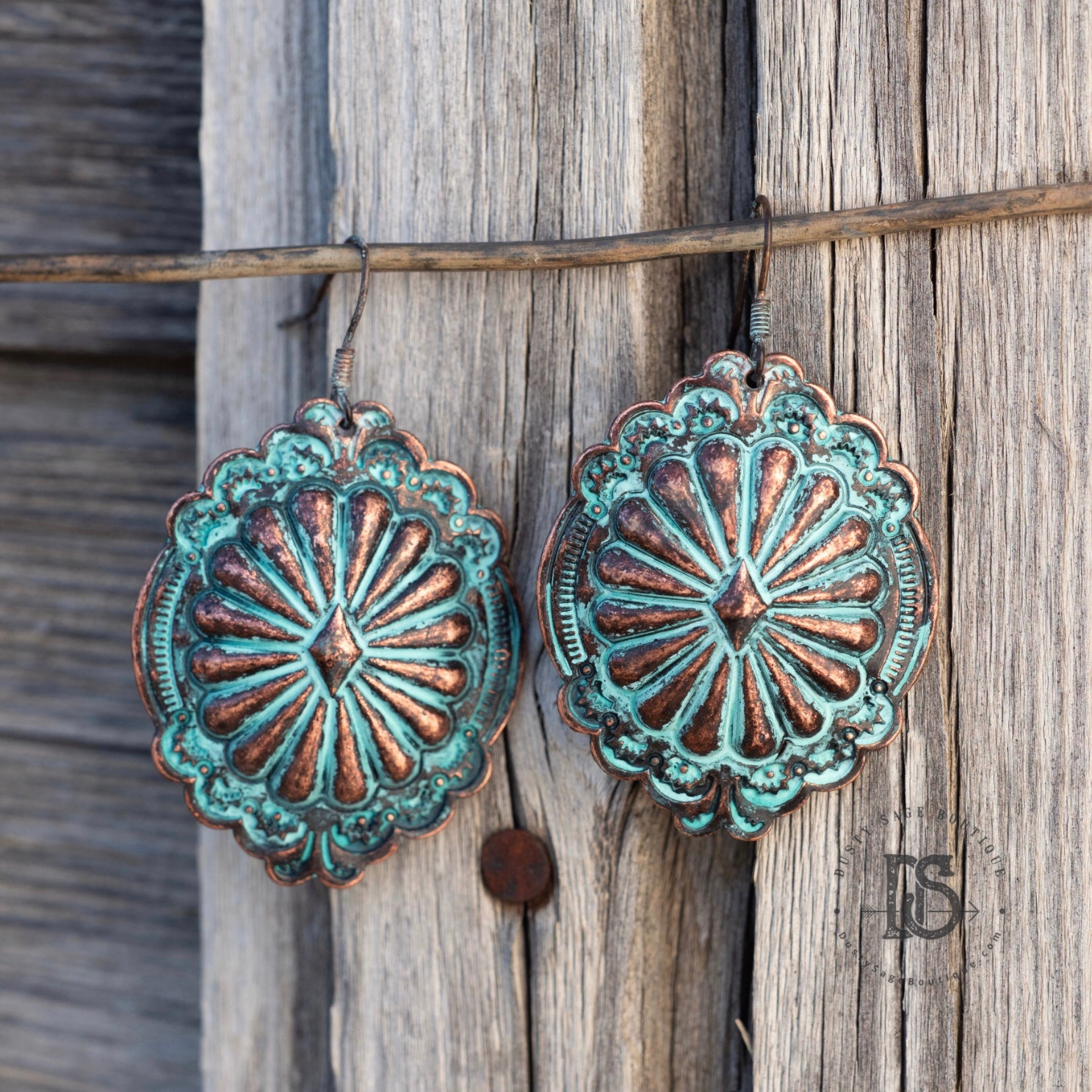 Patina Concho Earrings