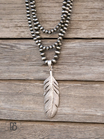 Navajo Pearl Feather Necklace