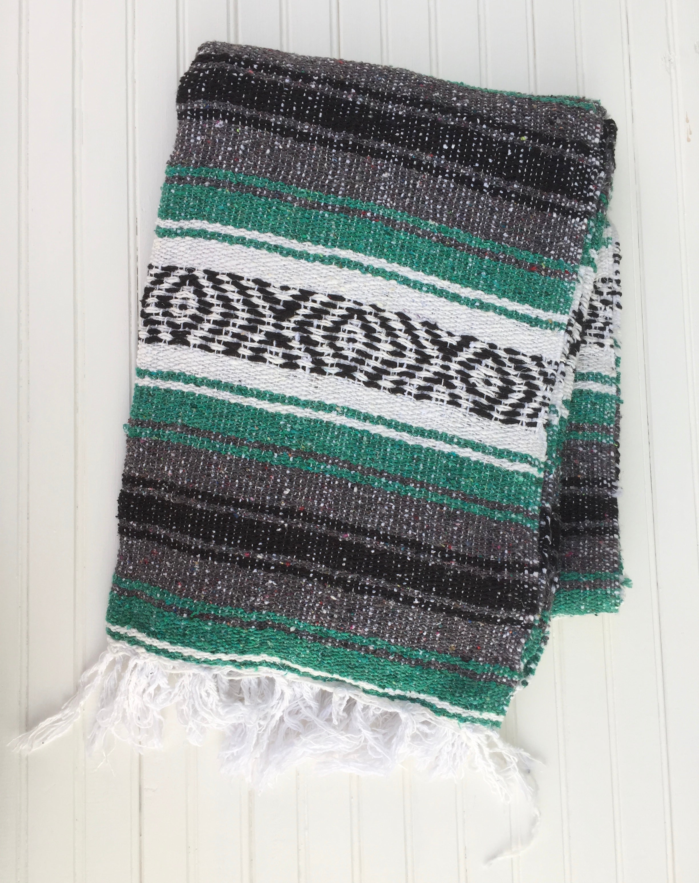 Teal Mexican Falsa Blanket